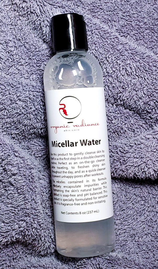 double cleansing with micellar water from ORS